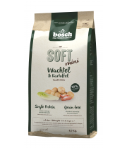 bosch MINI SOFT+ Quail & Potato - (putpelė) 1kg + 1kg