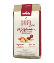 Bosch HPC PLUS Soft Maxi WILD BOAR & Sweetpotato 12.5kg + 2.5kg