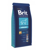 BRIT PREMIUM LAMB & RICE 15kg.